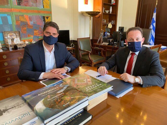 Μεσσήνη: Συνάντηση Αθανασόπουλου- Πέτσα για τρέχοντα θέματα